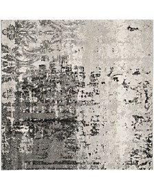 Safavieh Retro Light Gray and Gray 8' x 8' Square Area Rug
