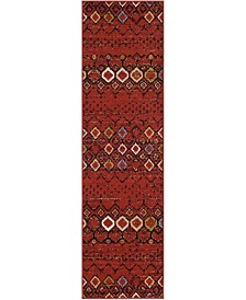 "Safavieh Amsterdam Terracotta and Multi 2'3"" x 14' Runner Area Rug"