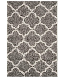 Safavieh New York Shag Gray and Ivory 4' X 6' Area Rug