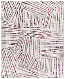 Skyler Gray and Pink 8' x 10' Area Rug