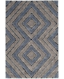 Safavieh Memphis Grey and Blue 2' x 8' Runner Area Rug