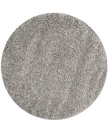 "Safavieh California Silver 5'3"" x 5'3"" Round Area Rug"