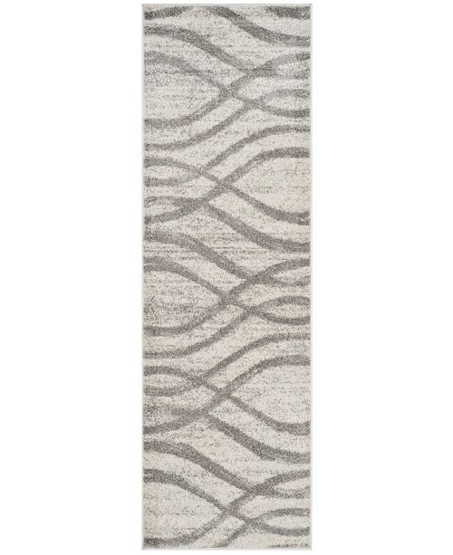 "Safavieh Adirondack Cream and Grey 2'6"" x 12' Runner Area Rug"