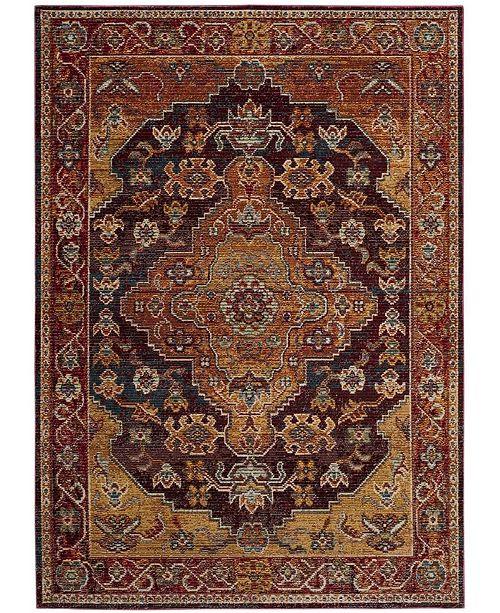 Safavieh Harmony Ruby and Gold 10' x 14' Sisal Weave Area Rug