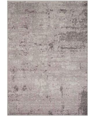 Adirondack Light Gray and Purple 3' x 5' Area Rug