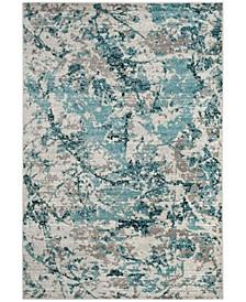 Skyler Blue and Ivory 2' x 4' Area Rug
