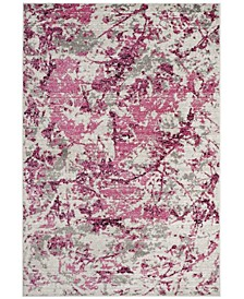 Skyler Pink and Ivory 2' x 4' Area Rug