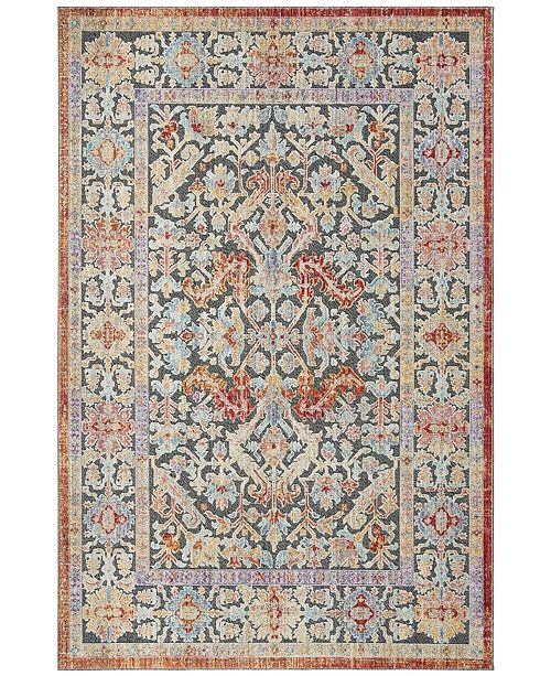 Safavieh Provance Black and Aqua 8' x 10' Area Rug