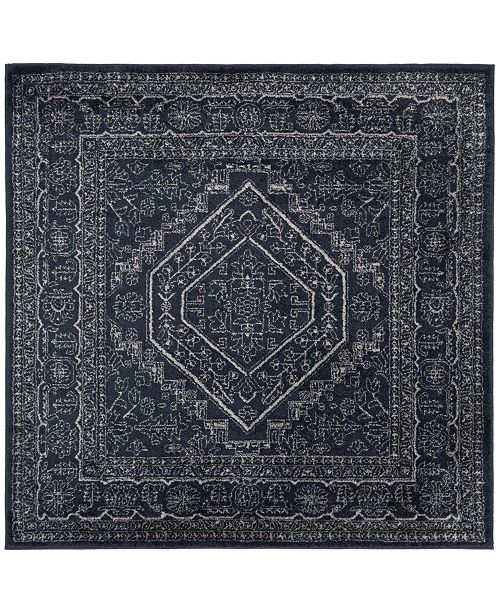 Safavieh Adirondack Navy and Ivory 8' x 8' Square Area Rug