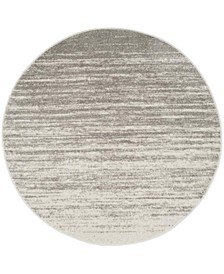 Adirondack Light Gray and Gray 10' x 10' Round Area Rug