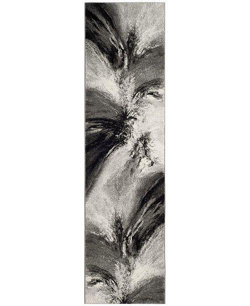 "Safavieh Glacier Grey and Multi 2'3"" x 12' Sisal Weave Runner Area Rug"