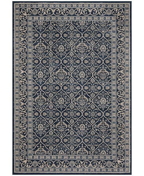 Safavieh Brentwood Navy and Light Gray 8' x 10' Sisal Weave Area Rug
