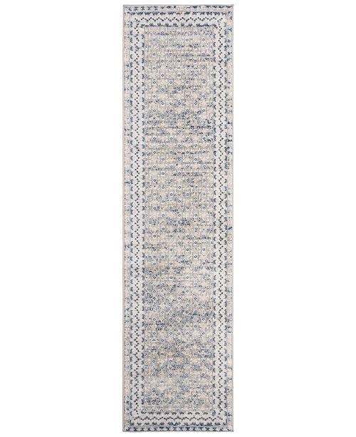 Safavieh Brentwood Light Grey and Blue 2' x 12' Sisal Weave Runner Area Rug