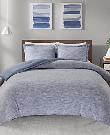Urban Habitat Space Dyed Full/Queen 3 Piece Melange Cotton Jersey Knit Comforter Set