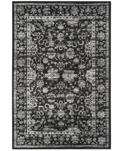 "Safavieh Vintage Black and Light Gray 4' x 5'7"" Area Rug"