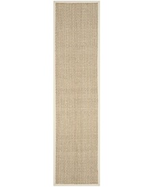 "Natural Fiber Natural and Ivory 2'6"" x 16' Sisal Weave Runner Area Rug"