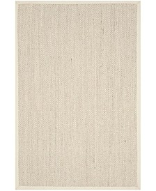 Natural Fiber Marble and Beige 5' x 8' Sisal Weave Area Rug
