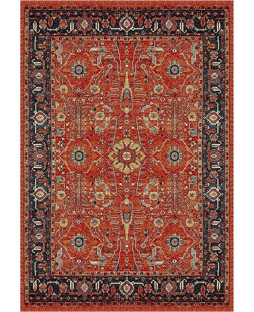 "Safavieh Vintage Hamadan Orange and Navy 5'3"" x 7'6"" Area Rug"