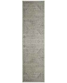 "Vintage Silver 2'2"" x 12' Runner Area Rug"