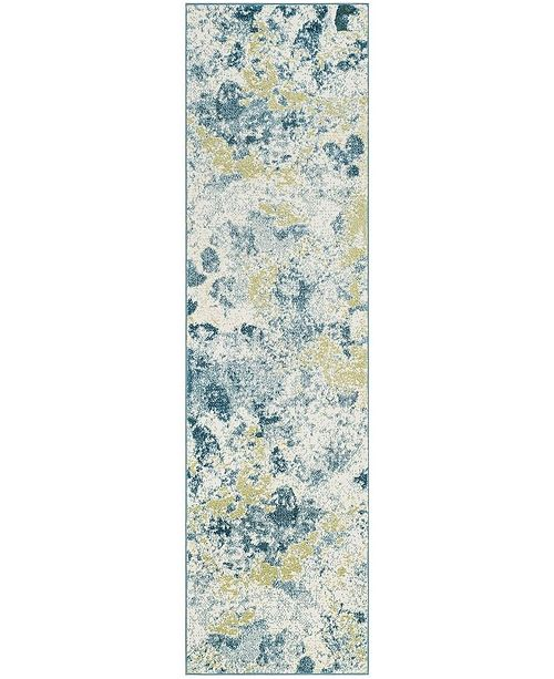 """Safavieh Watercolor Ivory and Light Blue 2'2"""" x 8' Runner Area Rug"""