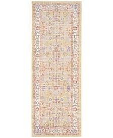 Windsor Gold and Lavender 3' x 8' Runner  Area Rug