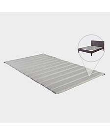 Heavy Duty Covered Wooden Bed Covered Slats/Bunkie Board, Queen