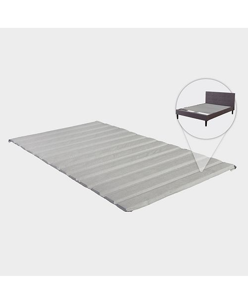 Payton Heavy Duty Covered Wooden Bed Covered Slats/Bunkie Board, Queen