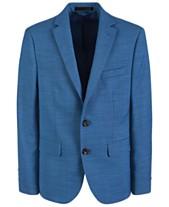 b0b734ee7 Lauren Ralph Lauren Big Boys Classic-Fit Stretch Blue Suit Jacket