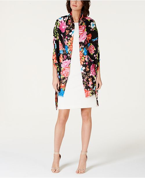 INC International Concepts I.N.C. Dragonfly Garden Soft Wrap, Created for Macy's
