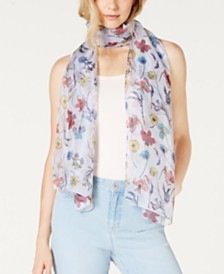 I.N.C. Sheer Botanical Floral Wrap, Created for Macy's