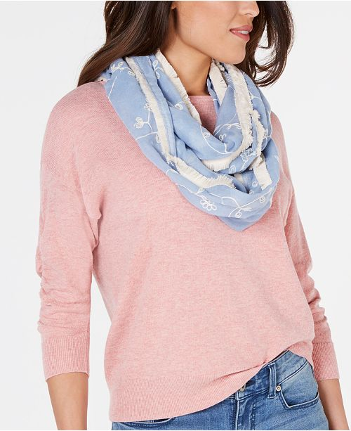 INC International Concepts INC Embroidered Spring Loop Scarf, Created for Macy's