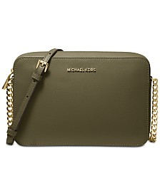 a72fe8389092a0 MICHAEL Michael Kors Jet Set East West Crossgrain Leather Crossbody
