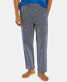Nautica Men's Printed Woven Cotton Pajama Pants
