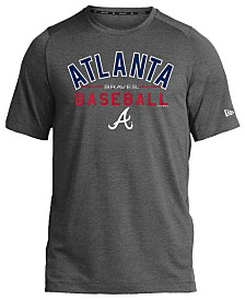 New Era Atlanta Braves Poly Performance T-Shirt, Big Boys (8-20)