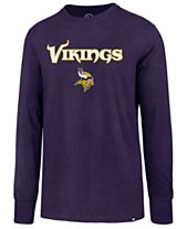 47 Brand Men s Minnesota Vikings Pregame Super Rival Long Sleeve T-Shirt 7bd61a9fd