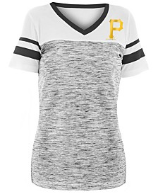 5th & Ocean Women's Pittsburgh Pirates Space Dye Back T-Shirt