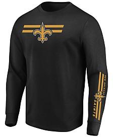 dbf0b735e31 Majestic Men's New Orleans Saints Dual Threat Long Sleeve T-Shirt