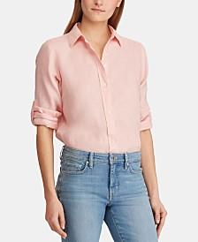 Lauren Ralph Lauren Straight Fit Linen Shirt