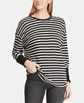 a8fc8c98447054 Lauren Ralph Lauren Striped Dolman-Sleeve Top