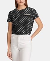 94291da8288c6 Lauren Ralph Lauren Polka-Dot Cotton T-Shirt