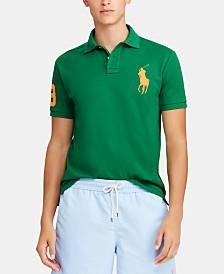 Polo Ralph Lauren Men's Big & Tall Classic Fit Big Pony Mesh Cotton Polo