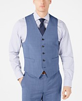58bf00e6f20e Lauren Ralph Lauren Men's Classic-Fit UltraFlex Stretch Light Blue Tic Suit  Vest