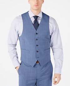 Lauren Ralph Lauren Men's Classic-Fit UltraFlex Stretch Light Blue Tic Suit Vest