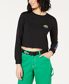 Cotton Rainbow Logo Crop Top
