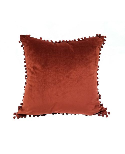 """Welcome Industrial Pompom 18"""" Decorative Throw Pillow"""