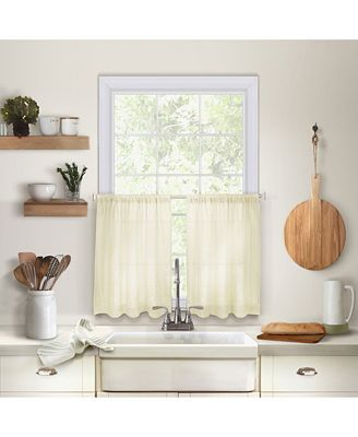 Elrene Cameron Kitchen Curtains All Window Treatments Blinds