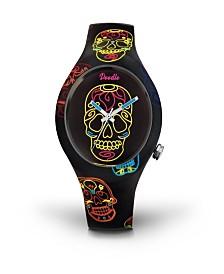 Doodle Watch Black Skull