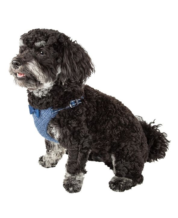 Pet Life Central Pet Life 'Flam-Bowyant' Reversible and Adjustable Dog Harness with Bowtie