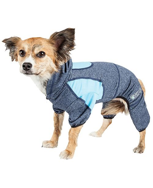 Pet Life Central Pet Life Active 'Fur-Breeze' Performance Two Toned Full Bodied Hoodie