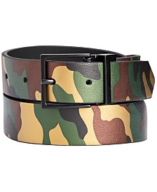 I.N.C. Men's Reversible Camo Belt, Created for Macy's